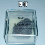 Slate natural mineral/gemstone specimen in display box